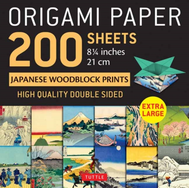 Origami Paper 200 sheets Japanese Woodblock Prints 8 1/4