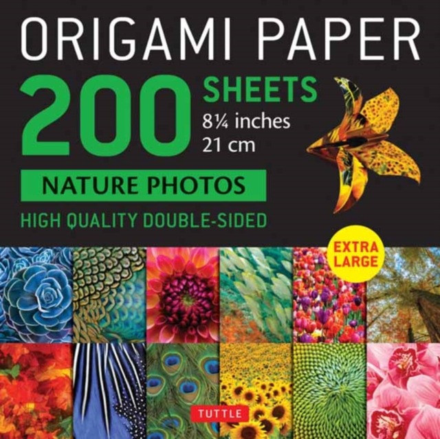 Origami Paper 200 Sheets Nature Photos 8 1/4