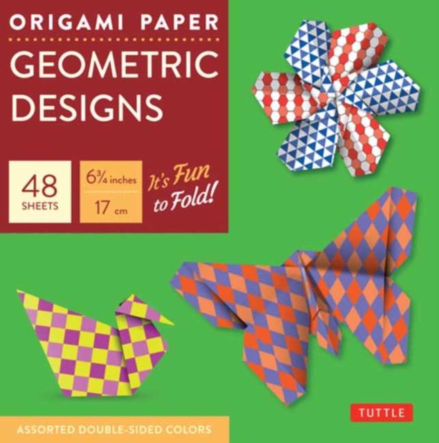 Origami Paper Geometric Prints 48 Sheets 6 3/4