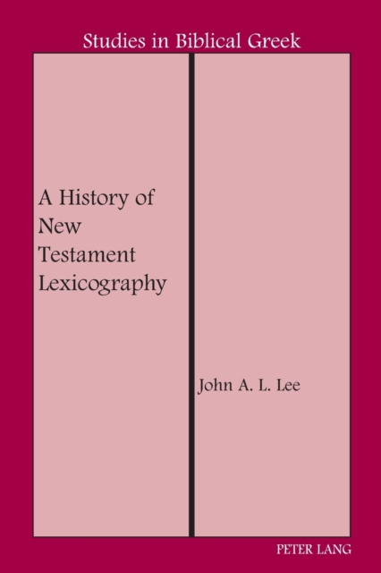 History of New Testament Lexicography