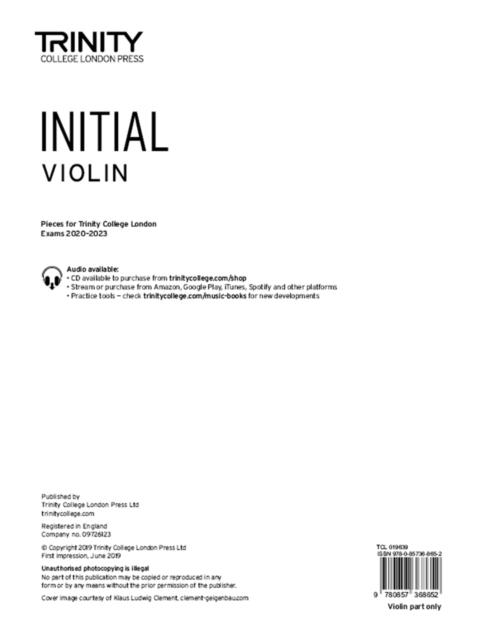 Violin 2020-2023. Initial