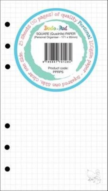25 Sheets Dodo Personal Squared/Clear 100gsm Clairfontaine-Style Rule Paper PPRPS