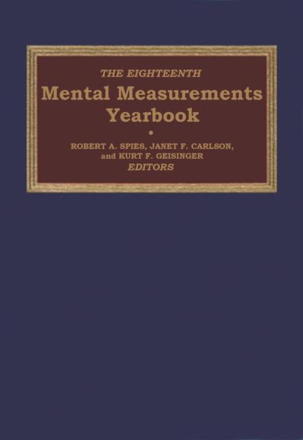 Eighteenth Mental Measurements Yearbook