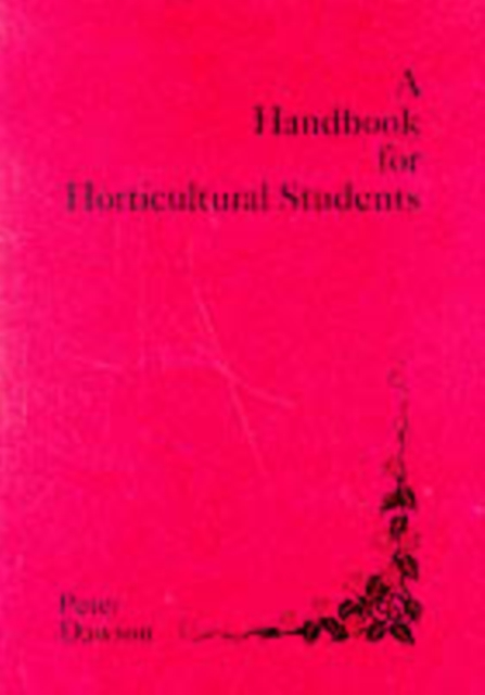 Handbook for Horticultural Students