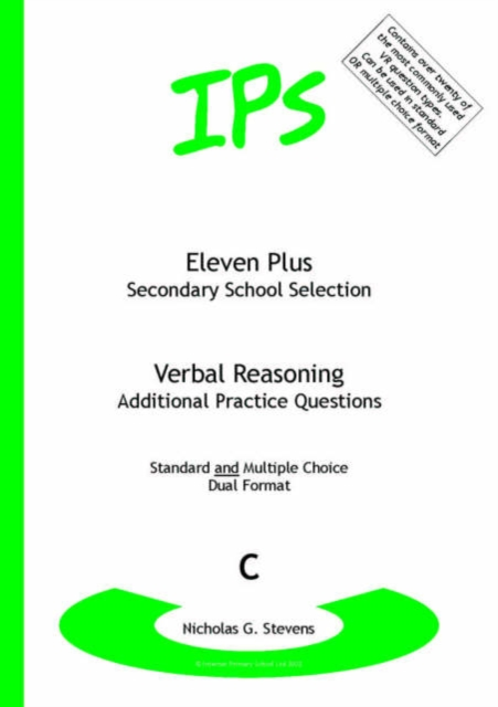 Eleven Plus / Secondary School Selection Verbal Reasoning - Additional Practice Questions