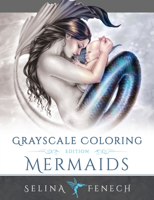 Mermaids Grayscale Coloring Edition