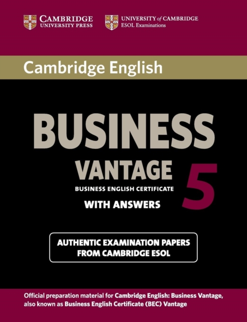 Cambridge English Business 5 Vantage Student's Book with Answers