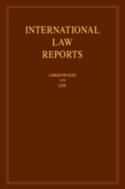 International Law Reports: Volume 189