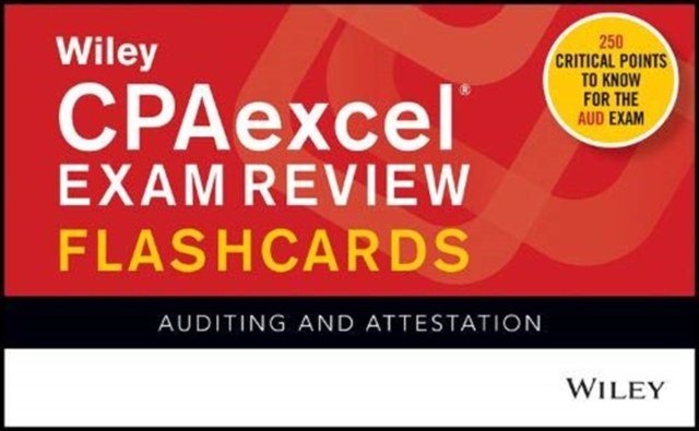 Wiley CPAexcel Exam Review 2020 Flashcards