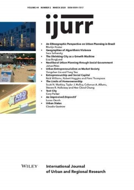 International Journal of Urban and Regional Research, Volume 44, Issue 2