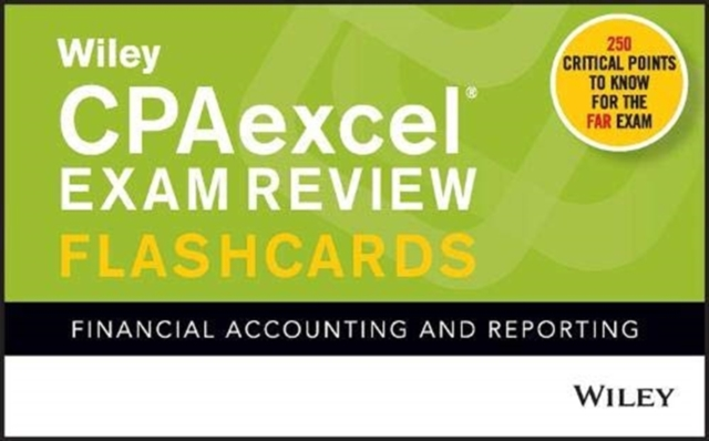 Wiley CPAexcel Exam Review 2021 Flashcards