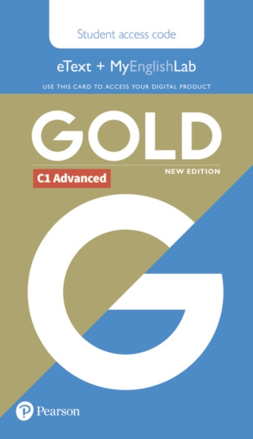 Gold C1 Advanced New Edition Students' eText and MyEnglishLab Access Card