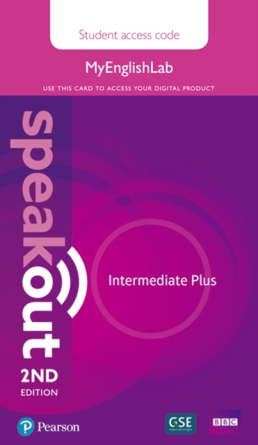 Speakout Intermediate Plus 2nd Edition MyEnglishLab Student Access Card