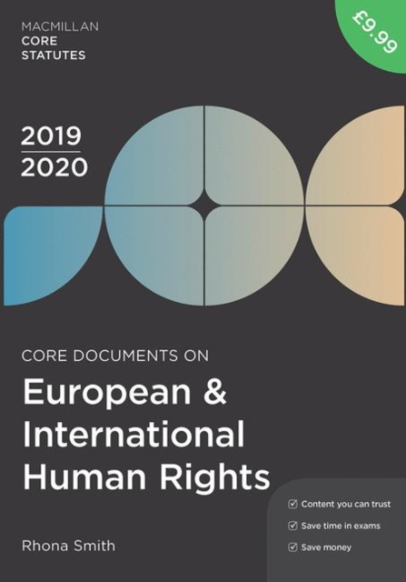 Core Documents on European and International Human Rights 2019-20