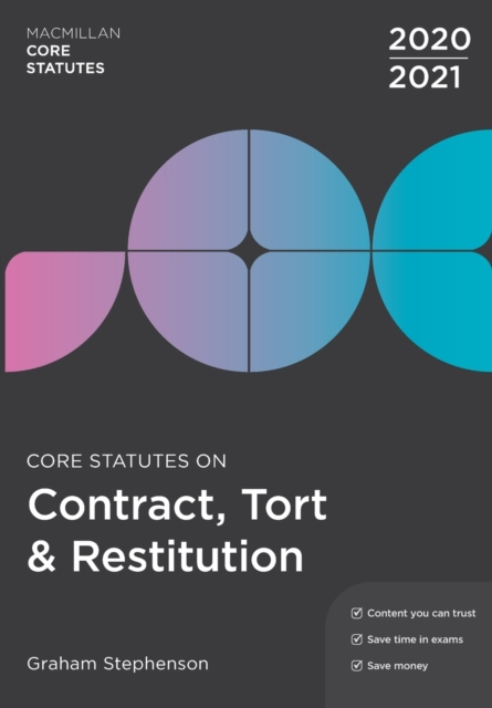 Core Statutes on Contract, Tort & Restitution 2020-21