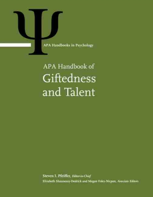 APA Handbook of Giftedness and Talent