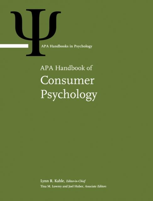 APA Handbook of Consumer Psychology