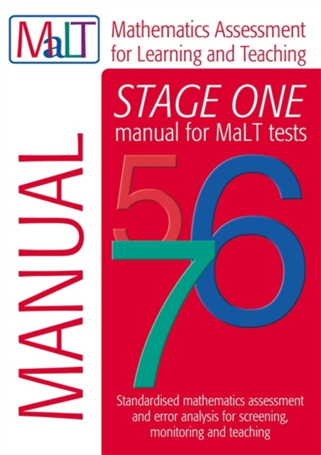MaLT Stage One (Tests 5-7) Manual (Mathematics Assessment for Learning and Teaching)