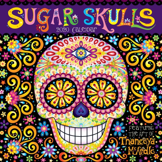Sugar Skulls 2020 Square Wall Calendar