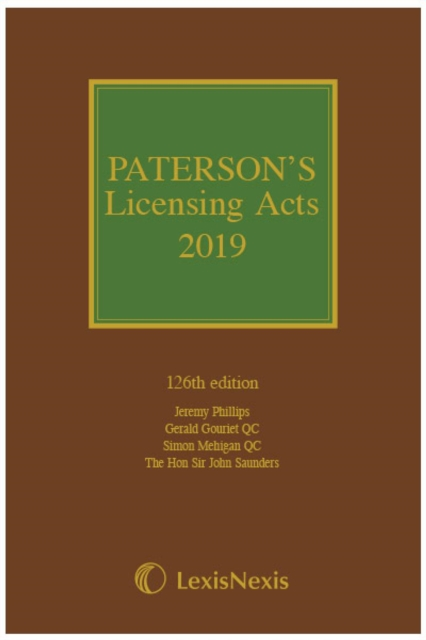 Paterson's Licensing Acts 2019