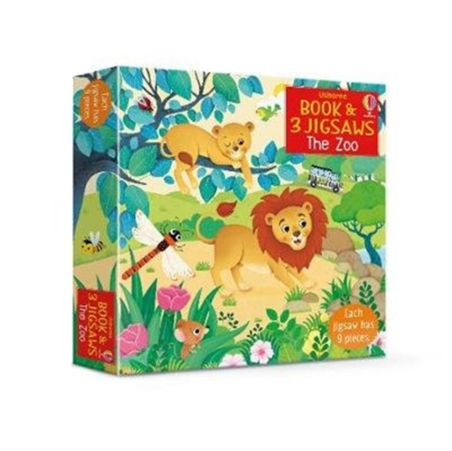 Usborne Book & 3 Jigsaws: The Zoo