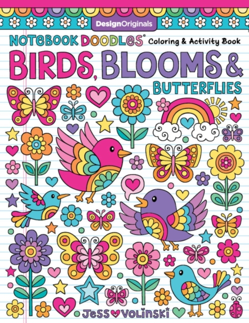 Notebook Doodles Birds, Blooms and Butterflies