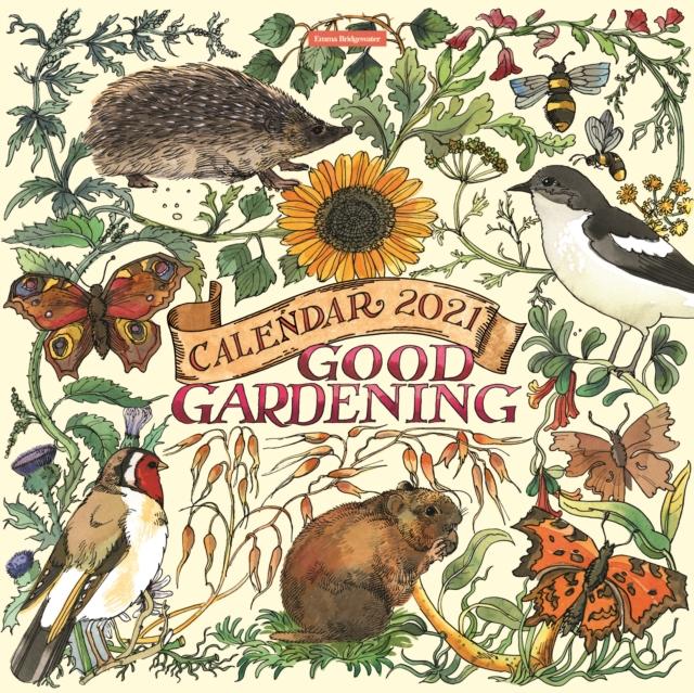 Emma Bridgewater Good Gardening Square Wiro Wall Calendar 2021