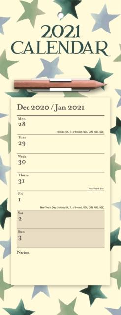 Emma Bridgewater Winter Star Week-to-View Magnetic Memo Slim Calendar 2021