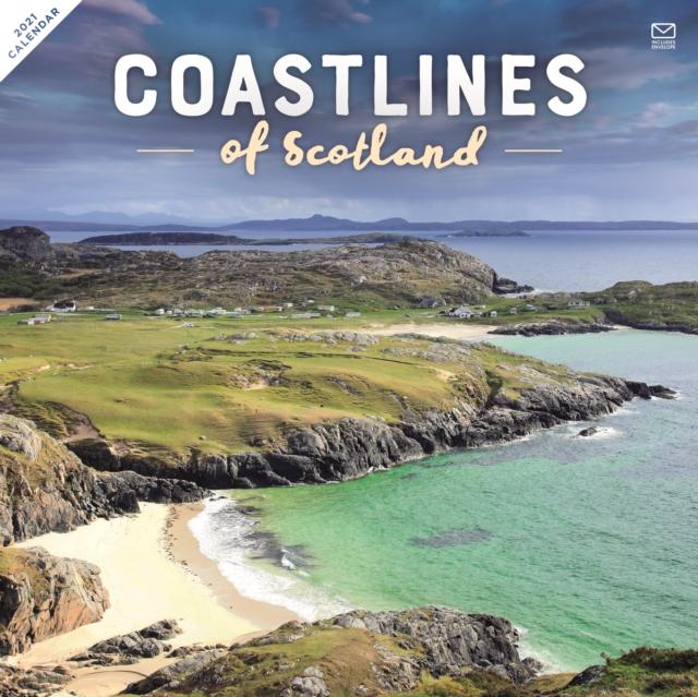 Coastline of Scotland Square Wall Calendar 2021