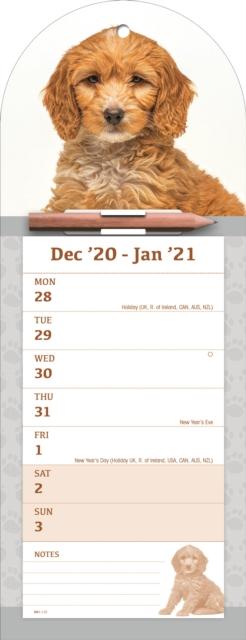 Cockapoo Week-to-View Magnetic Memo Slim Calendar 2021