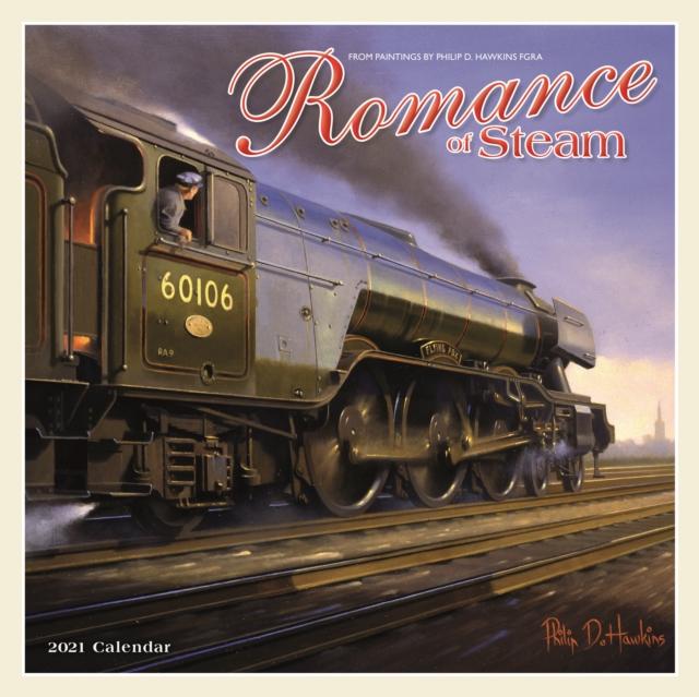 Romance of Steam Square Wall Calendar 2021