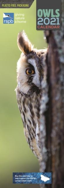 RSPB Owls Slim Calendar 2021