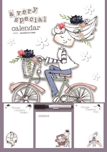 Tracey Russell Deluxe A3 Planner Calendar 2021