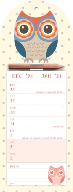 Twit Twoo Week-to-View Magnetic Memo Slim Calendar 2021