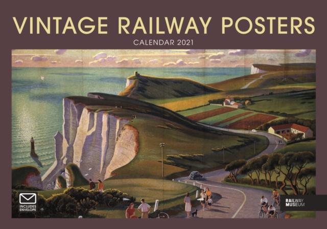 Vintage Railway Posters National Railway Museum A4 Calendar 2021
