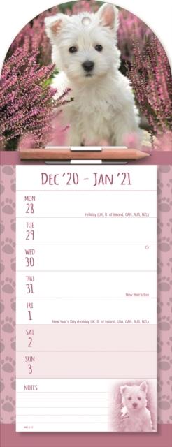 West Highland White Terrier Week-to-View Magnetic Memo Slim Calendar 2021