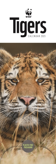 WWF Tigers Slim Calendar 2021
