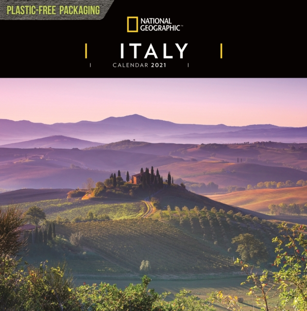 Italy National Geographic Square Wall Calendar 2021