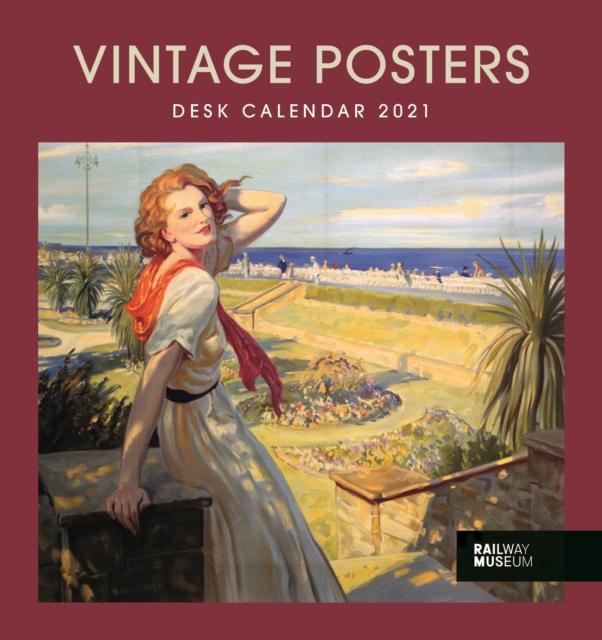 Vintage Posters National Railway Museum Easel Desk Calendar 2021