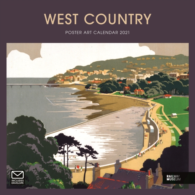 West Country Poster Art National Railway Museum Square Wiro Wall Calendar 2021