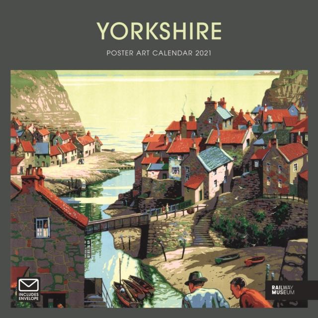 Yorkshire Poster Art National Railway Museum Square Wiro Wall Calendar 2021