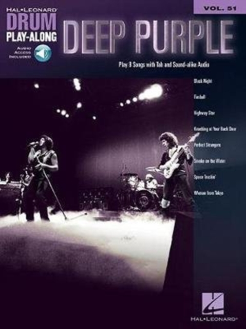 DEEP PURPLE DRUM PLAYALONG VOLUME 51