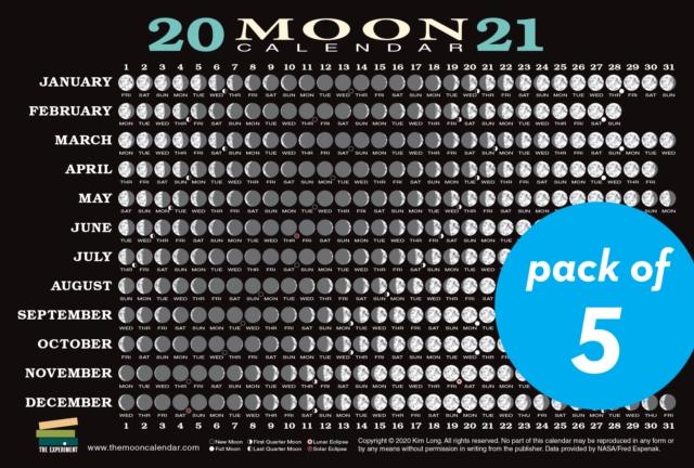 2021 Moon Calendar Card (5 Pack)