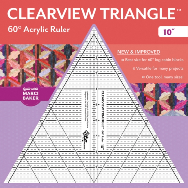 Clearview Triangle (TM) 60 Degrees Acrylic Ruler - 10