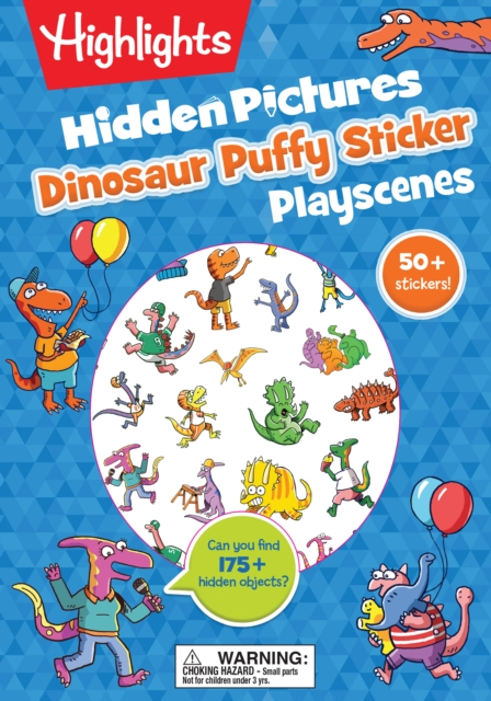 Dinosaur Puffy Sticker Playscenes