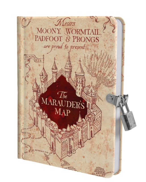 Harry Potter: Marauder's Map Lock and Key Diary