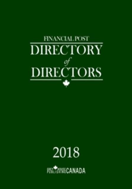 Financial Post Directory of Directors 2018
