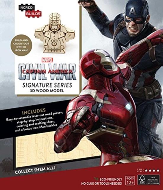 IncrediBuilds: Marvel's Captain America: Civil War: Iron Man Signature Series 3D Wood Model