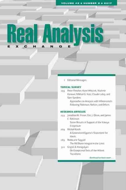 Real Analysis Exchange 42, No. 2