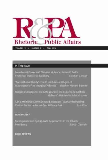 Rhetoric & Public Affairs 19, No. 3